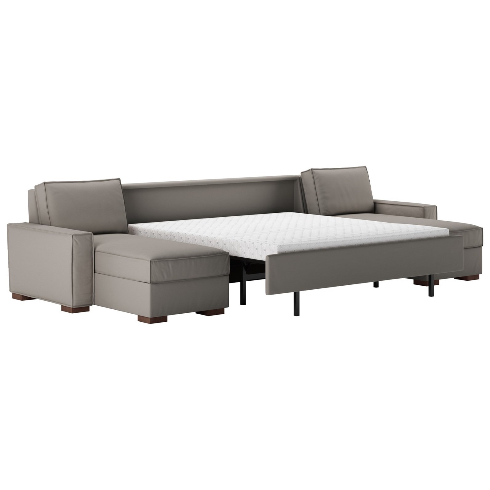 American Leather Madden3 Pc Sectional W/ King Sleeper U0026 2 Chaise ...