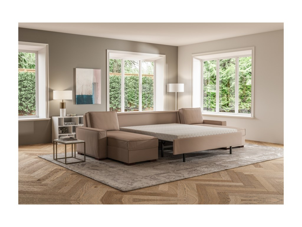 American Leather Madden3 Pc Sectional w/ King Sleeper & 2 Chaise