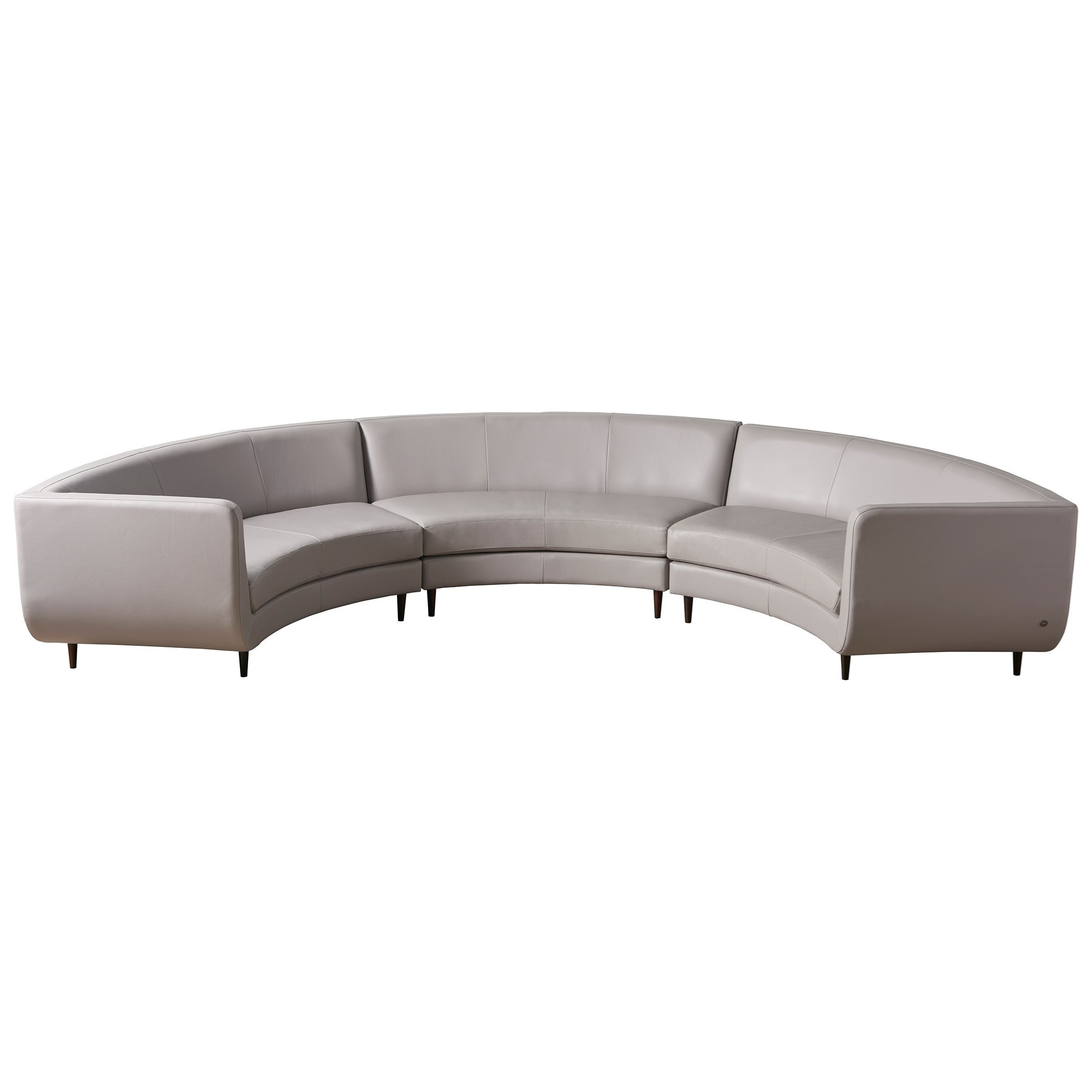 American Leather Menlo Park Contemporary 6 Seat Curved