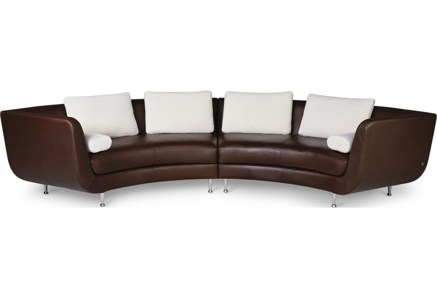 American Leather Menlo Park Contemporary 4-Seat Curved ...