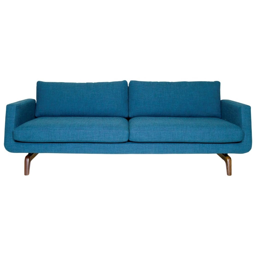 Nash contemporary sofa with angled track arms and two cushions by american leather