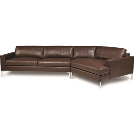3-Seat Sectional Sofa w/ LAS Cuddler