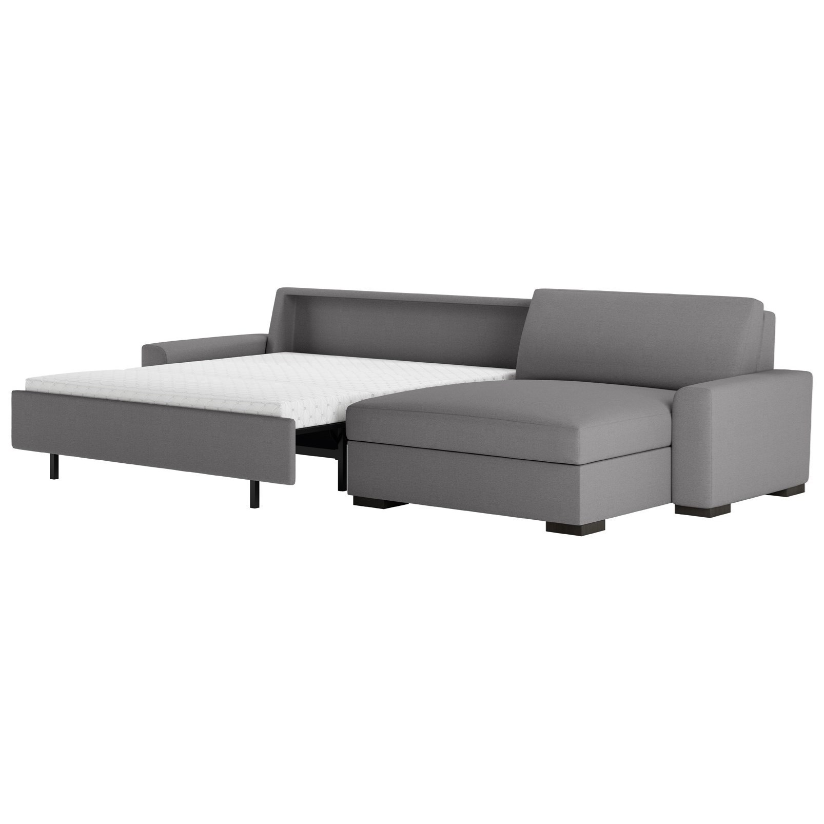 American Leather Olson Two Piece Sectional Sofa With Queen