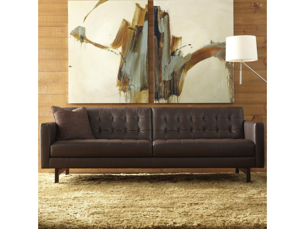 American Leather Parker Casual Sofa With Onless Tufted Seat Back