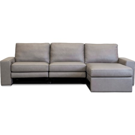 Power Reclining Sectional Sofa w/ RAF Chaise