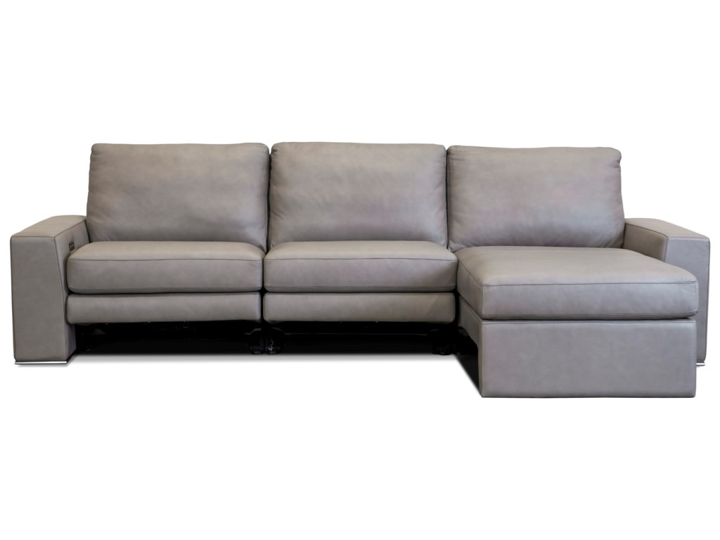 American Leather PaxtonPower Reclining Sectional Sofa w/ RAF Chaise
