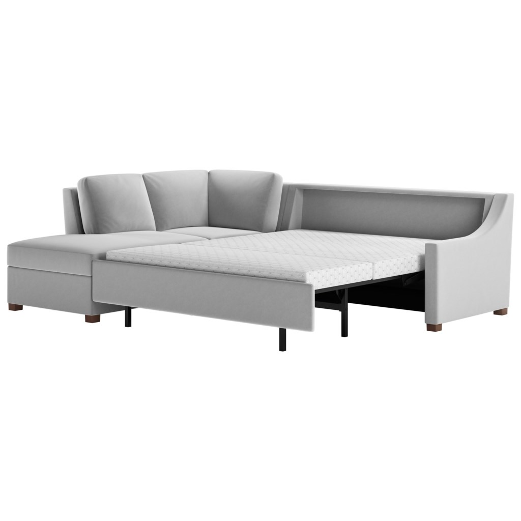American Leather Perry Two Piece Sectional Sofa With Queen Sleeper