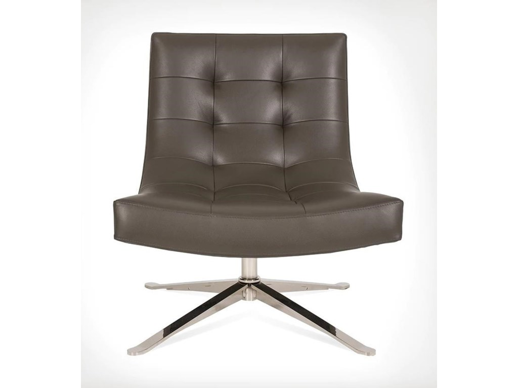 American Leather PetraSwivel Chair