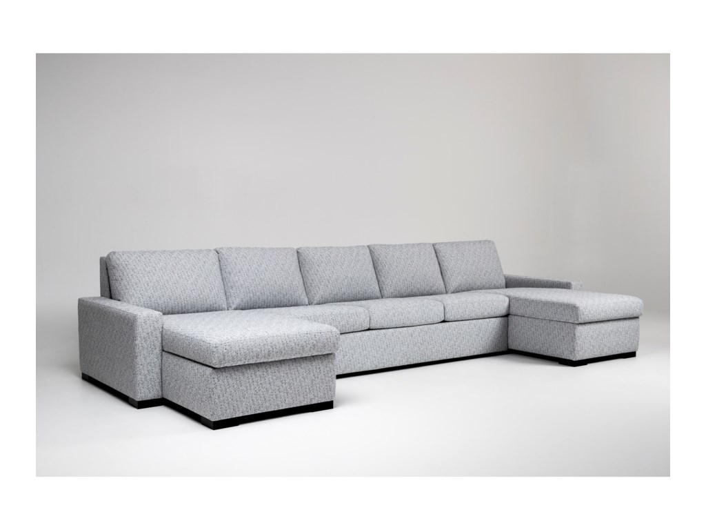 American Leather Rogue5-Seat Sectional Sofa w/ Sleeper