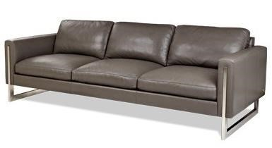 Savino contemporary sofa with metal legs by american leather