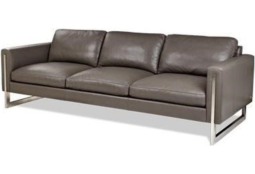 Savino Contemporary Sofa with Metal Legs by American Leather at  Jacksonville Furniture Mart