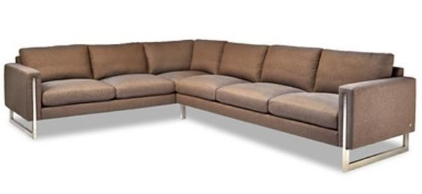 American leather savino contemporary sectional sofa with track arms and metal legs jacksonville furniture mart sofa sectional