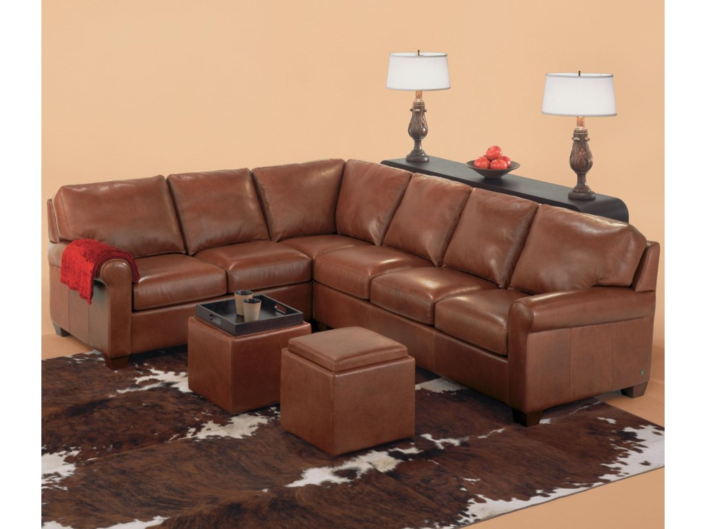 Savoy Contemporary 3 Piece Sectiona By American Leather