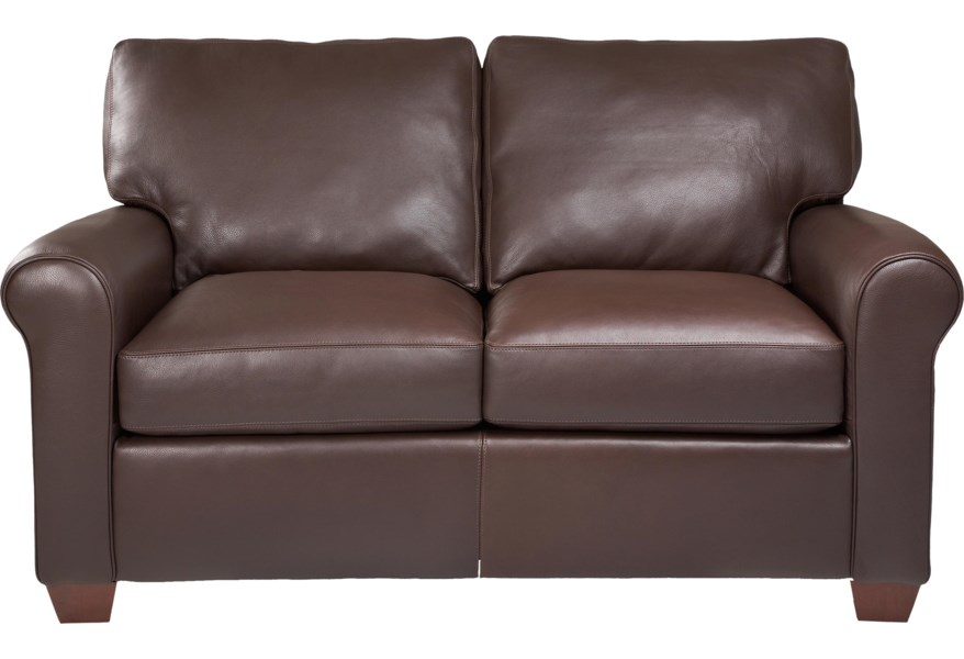 American Leather Savoy Contemporary Stationary Loveseat ...