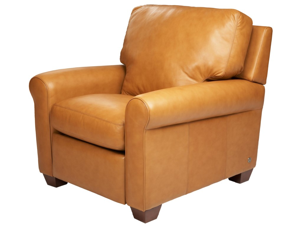 American Contemporary Furniture American Leather Savoy Contemporary High Leg Recliner Becker