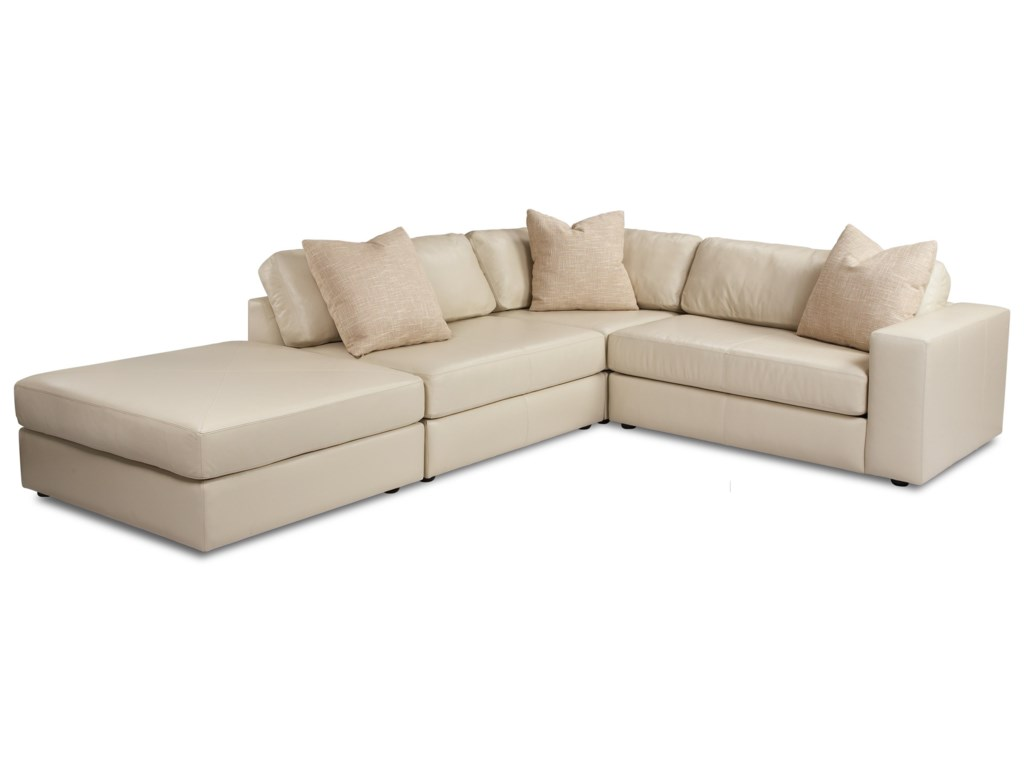 American Leather Steve4-Piece Sectional