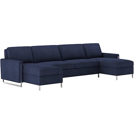 3 Pc Sect Sofa w/ Queen Sleeper & 2 Chaise