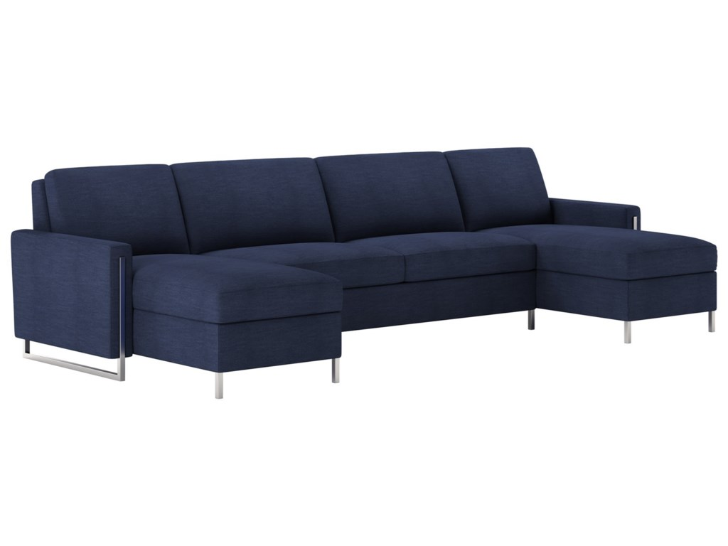American Leather Sulley Three Piece Sectional Sofa With Queen