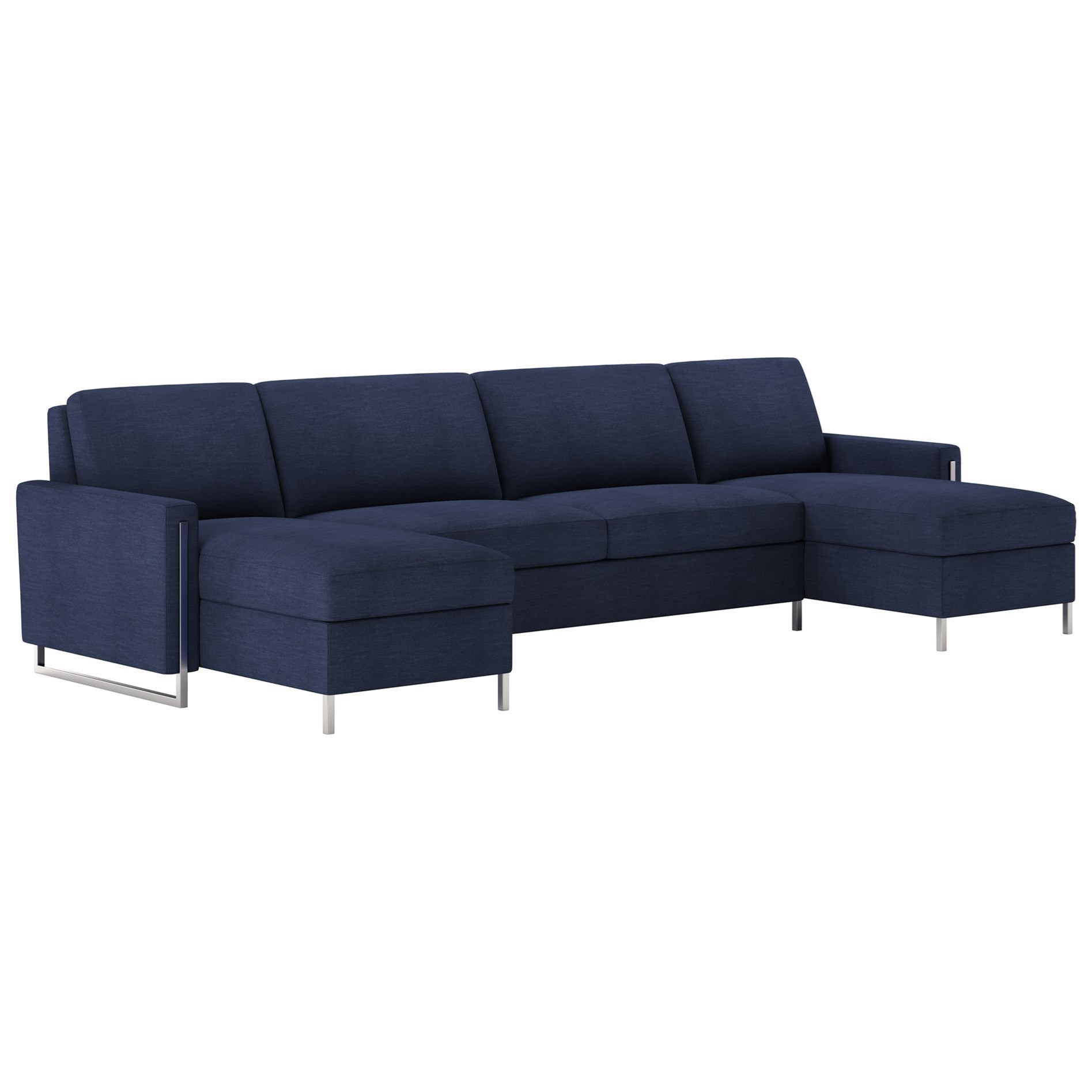 American Leather Sulley3 Pc Sect Sofa W/ Queen Sleeper U0026 2 Chaise ...
