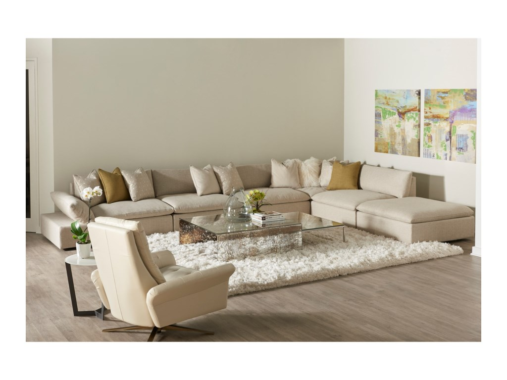 American Leather Versa6-Piece Studio Sectional