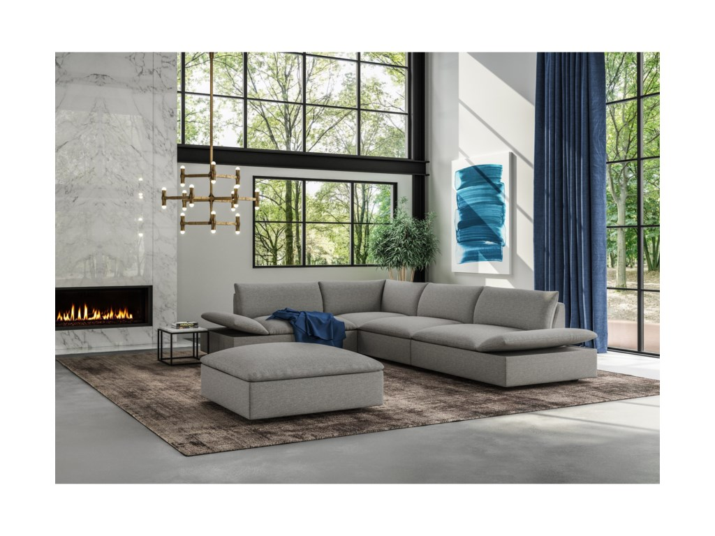 American Leather Versa4-Piece Grand Sectional