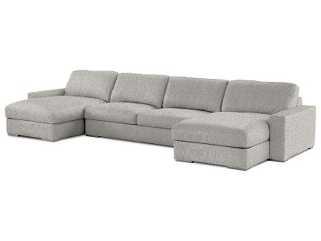 American Leather Westchester Contemporary Sectional Sofa with Two ...