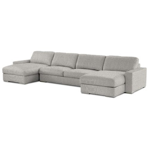 American Leather Westchester Contemporary Sectional Sofa With Two