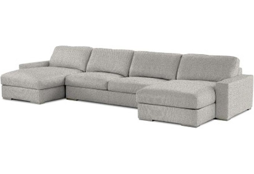 American Leather Westchester Contemporary 3-Piece Sectional ...