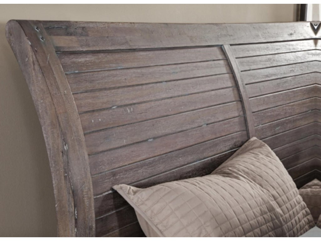 American Woodcrafters AuroraKing Storage Bed
