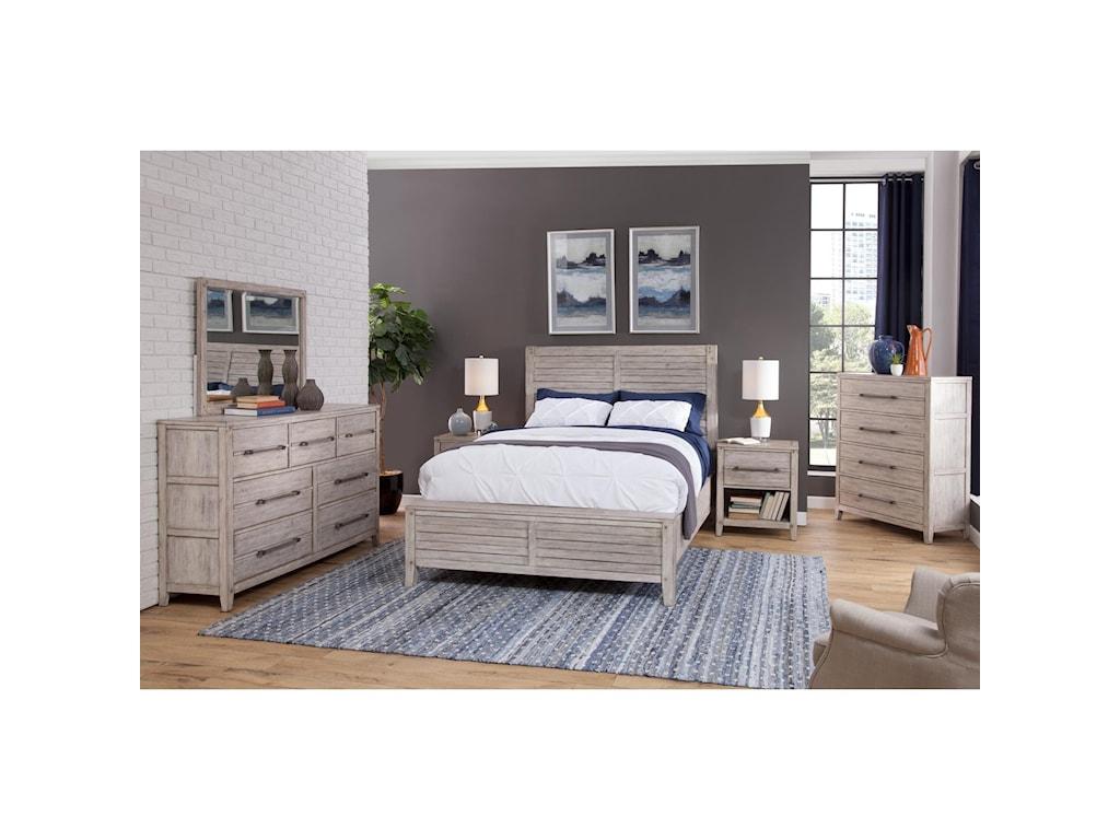 American Woodcrafters AuroraKing Bedroom Group