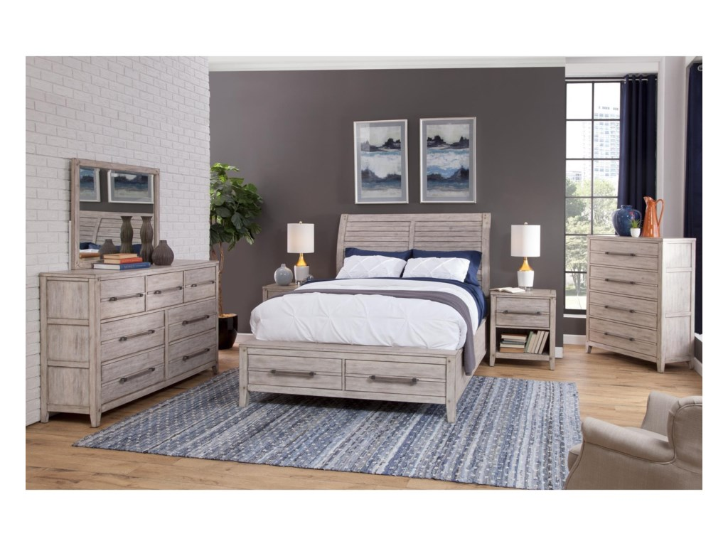 American Woodcrafters AuroraQueen Bedroom Group