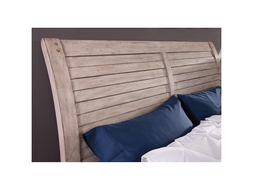 American Woodcrafters AuroraQueen Sleigh Bed