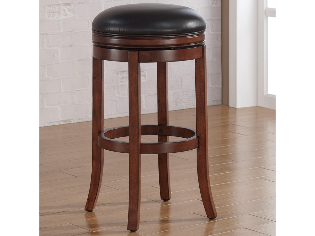 American Woodcrafters BarstoolsBackless Wood Stool
