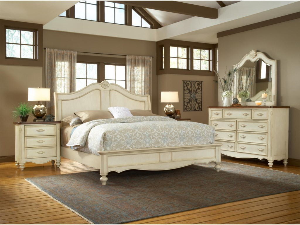 American Woodcrafters ChateauKing Sleigh Bed