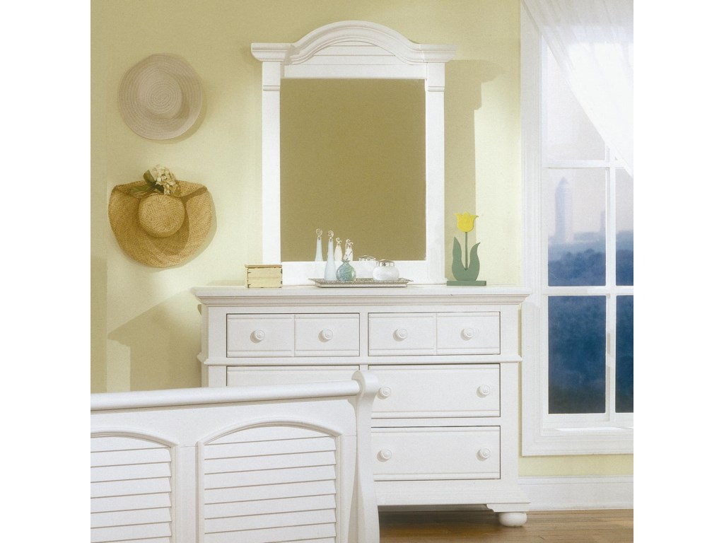 American Woodcrafters Cottage TraditionsYouth Double Dresser and Mirror Set