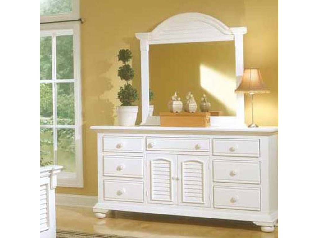American Woodcrafters Cottage TraditionsTriple Dresser and Mirror Combo