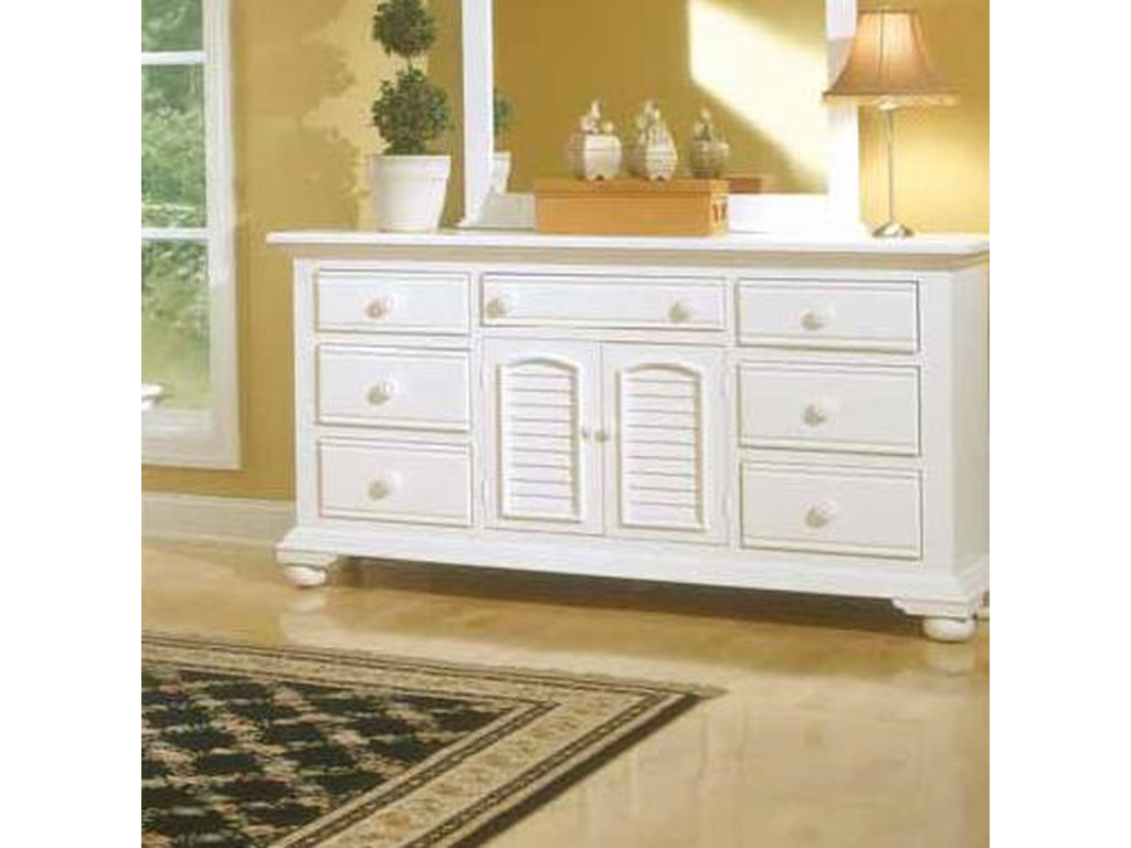 American Woodcrafters Cottage TraditionsTriple Dresser