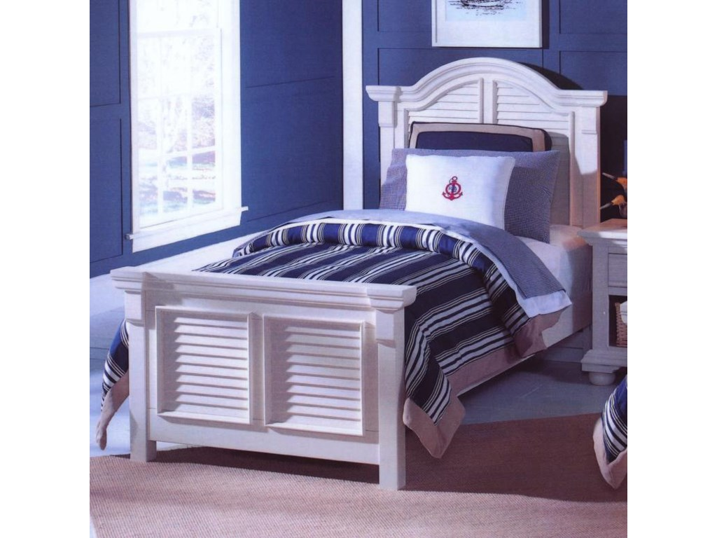 American Woodcrafters Cottage TraditionsTwin Panel Bed