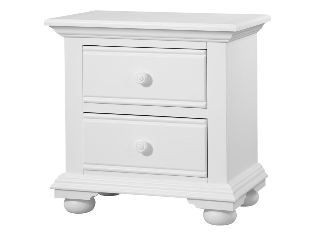 American Woodcrafters Cottage TraditionsTwo Drawer Nightstand