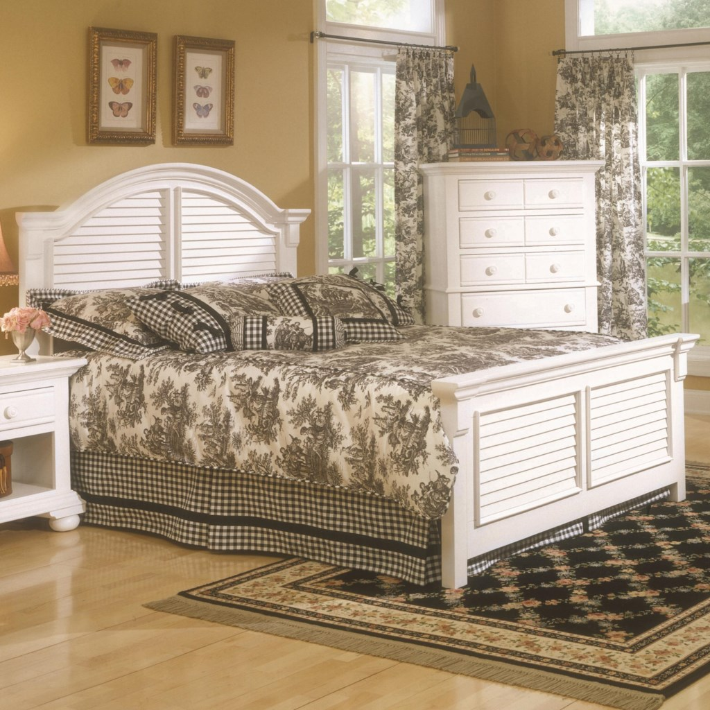 American Woodcrafters Cottage Traditions King Panel Bed Lindy S