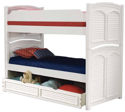 American Woodcrafters Cottage Traditions Twin Bunk Bed With Trundle