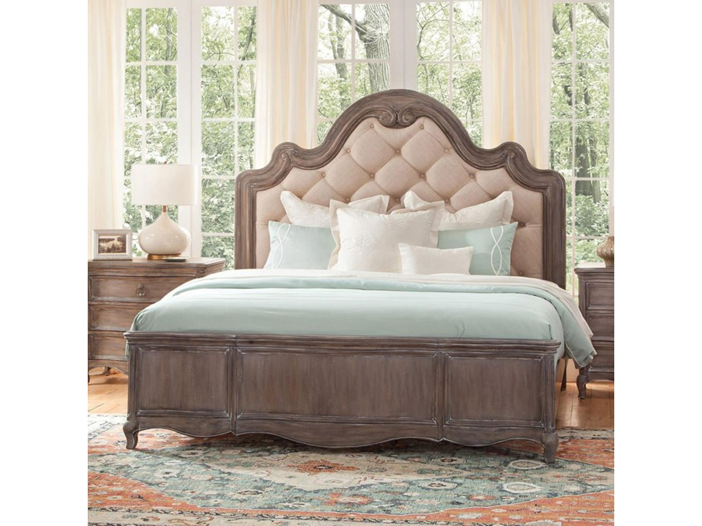 American Woodcrafters GenoaKing Upholstered Bed