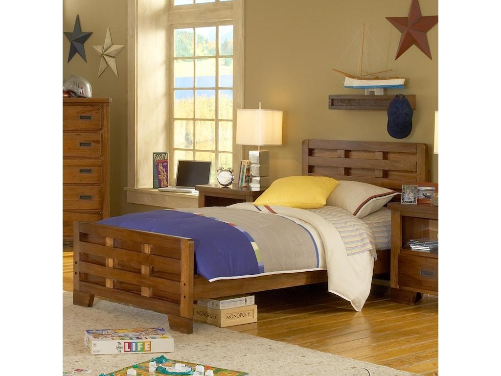 American Woodcrafters Heartland Twin Bed Headboard Footboard Bed
