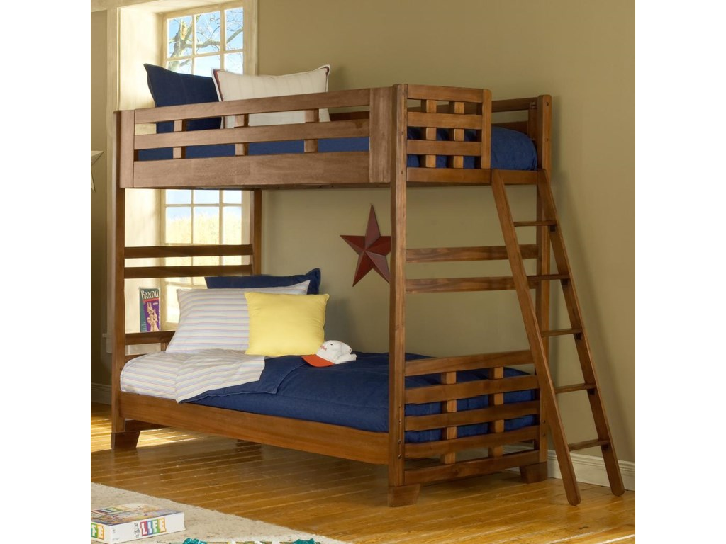 American Woodcrafters Heartland Twin Over Twin Bunk Bed Howell