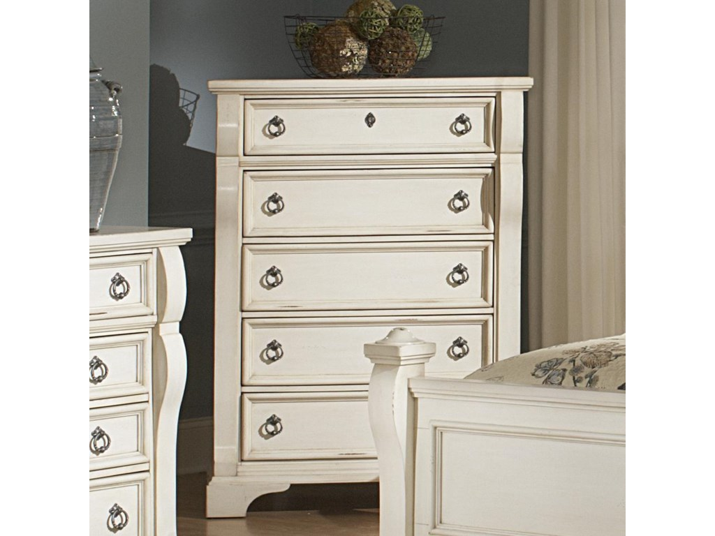 American Woodcrafters HeirloomFive Drawer Chest