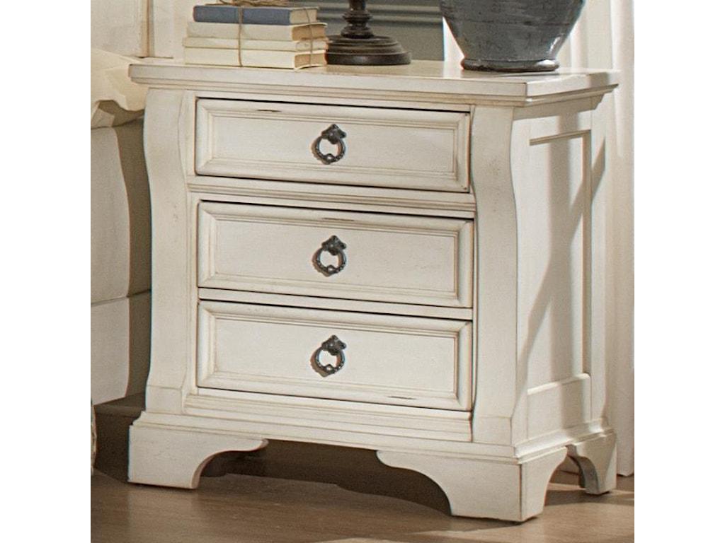 American Woodcrafters HeirloomThree Drawer Nightstand