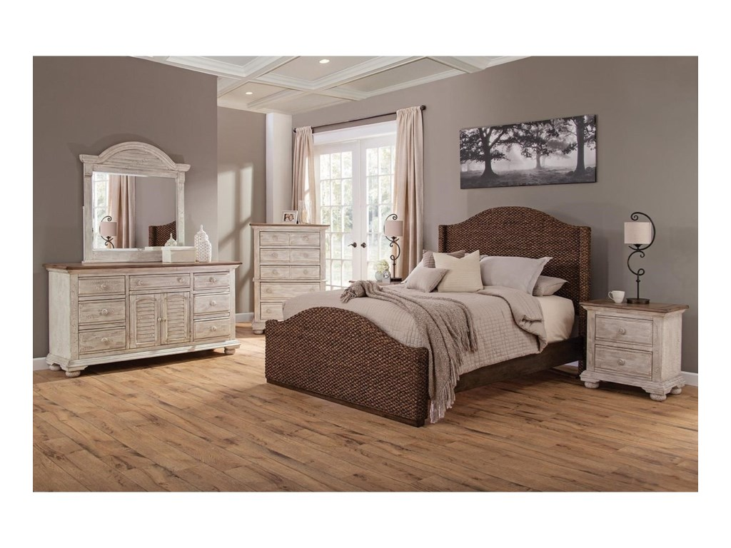 American Woodcrafters SeasideQueen Woven Bed