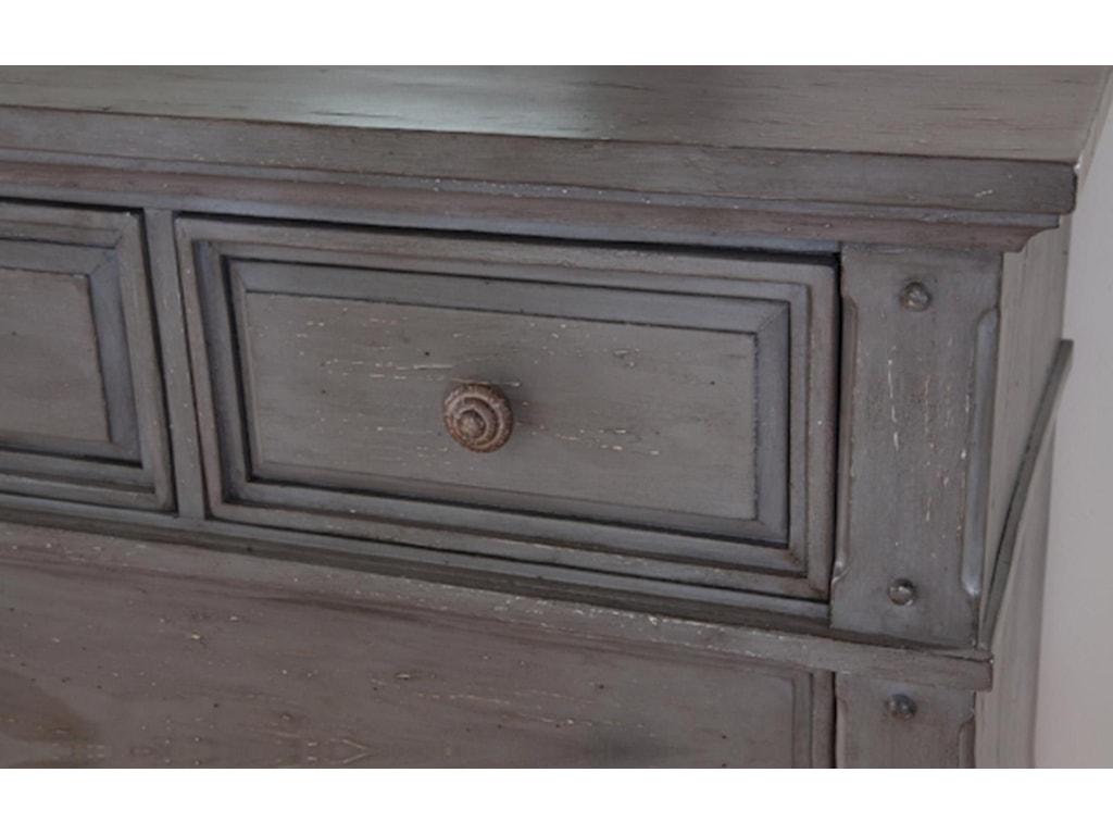 American Woodcrafters Sedona GreyKing Bedroom Group
