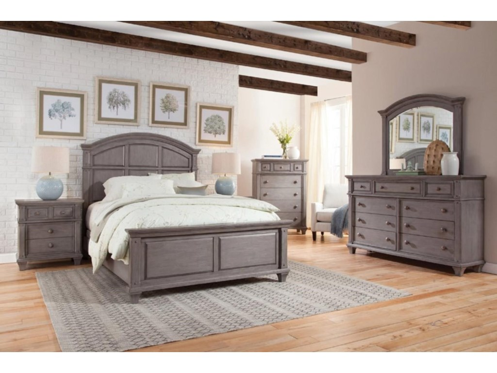 American Woodcrafters Sedona GreyQueen Panel Bed
