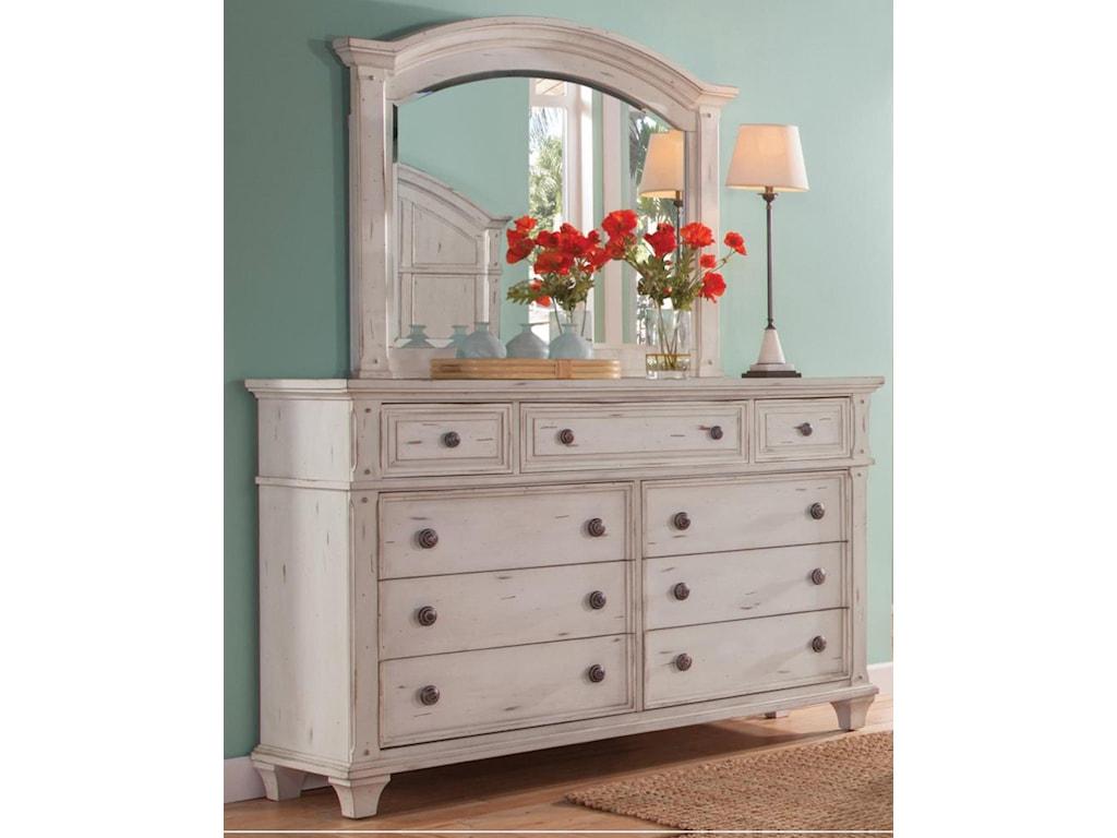 American Woodcrafters Sedona WhiteKing Bedroom Group